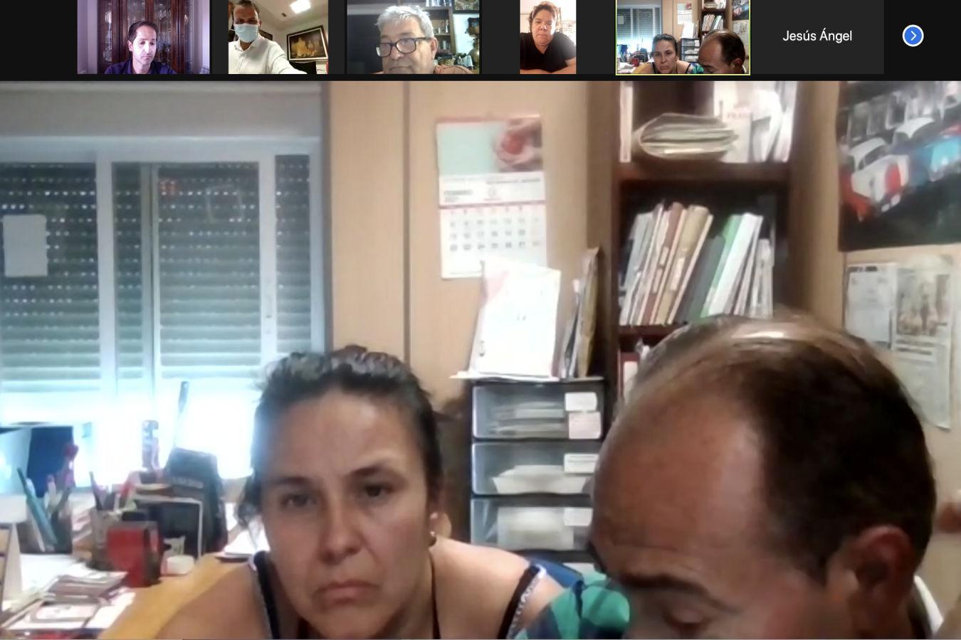 Reunión virtual del equipo de trabajo